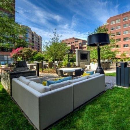 Beautifully Landscaped Grounds | Luxury Apartments Old Town Alexandria VA | Meridian at Braddock Station