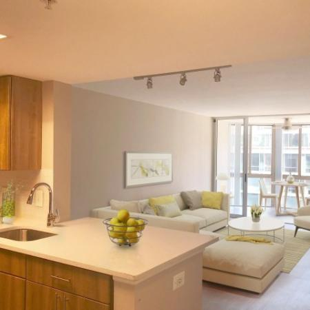 Elegant Living Room | Studio Apartments In Alexandria VA | Meridian at Braddock Station