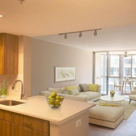 Elegant Living Room | Studio Apartments In Alexandria VA | Meridian at Braddock Station