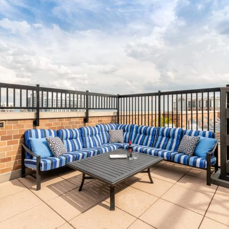 Rooftop Lounge Area| Meridian at Ballston Commons