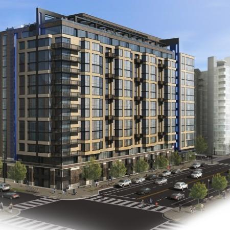 A rendering of the Meridian on First apartment community.