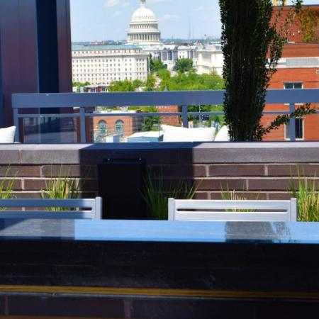 Rooftop Lounge with Capitol Views From Many Angles