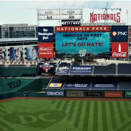 Meridian on First Says Let's Go Nats   Nationals Park   Navy Yard   Washington DC