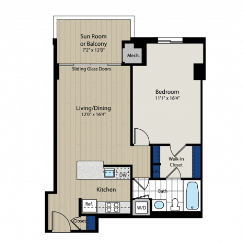 Floor Plan 2 | Meridian at Braddock Station