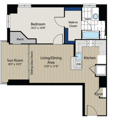Floor Plan 2 | Meridian at Gallery Place 2