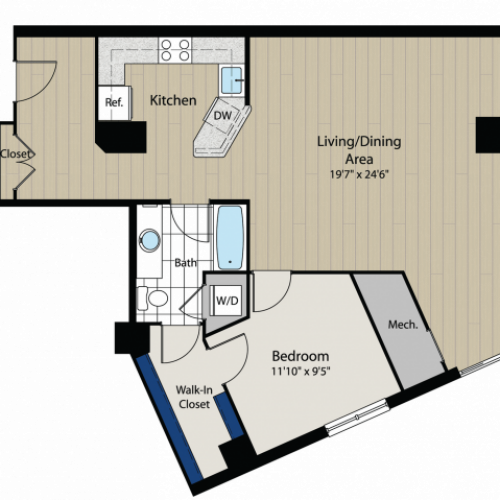 Floor Plan 5 | Meridian at Gallery Place 3