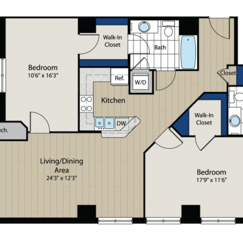 Floor Plan 5 | Meridian at Gallery Place 5
