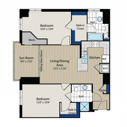 Floor Plan 3 | Meridian at Gallery Place 6