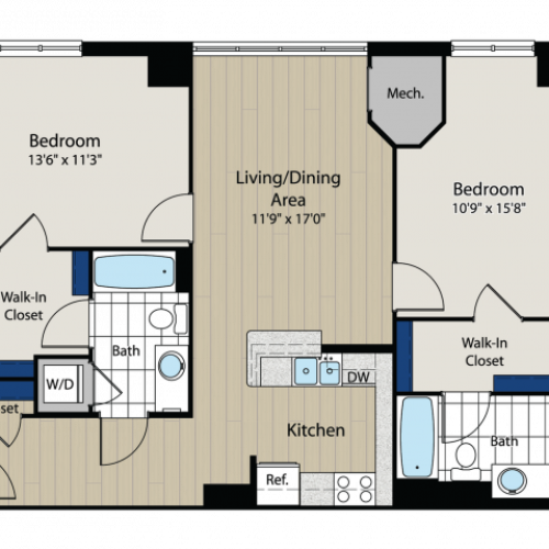 Floor Plan 6 | Meridian at Gallery Place 6