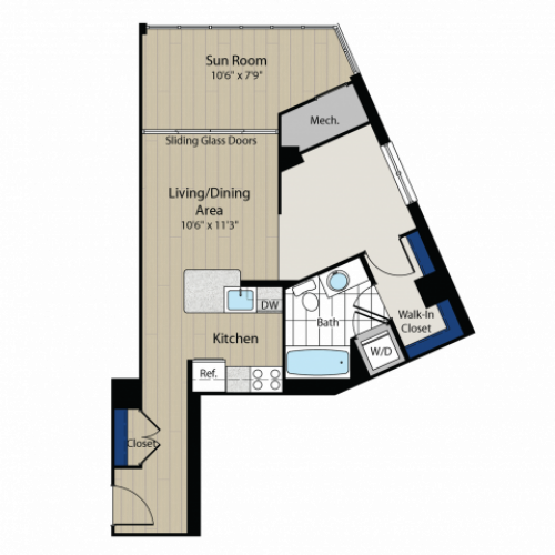 Floor Plan 2 | Meridian at Gallery Place