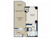 1 Bedroom Floor Plan | Meridian at Gallery Place 2