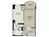 1 Bedroom Floor Plan | Meridian at Gallery Place 3