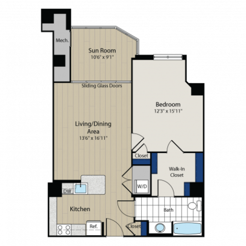 Floor Plan | Meridian at Gallery Place 2