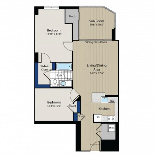 Floor Plan 6 | Meridian at Gallery Place 2