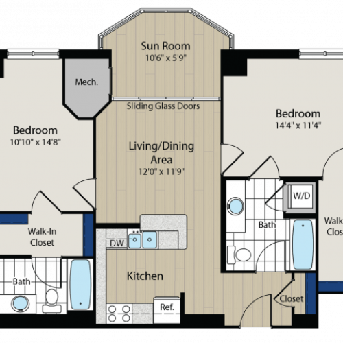 Floor Plan 2 | Meridian at Gallery Place 4