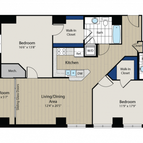 Floor Plan 2 | Meridian at Gallery Place 5