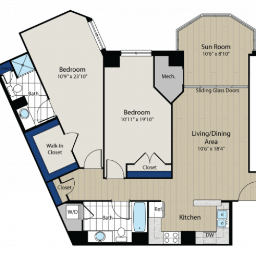 Floor Plan 3 | Meridian at Gallery Place 5