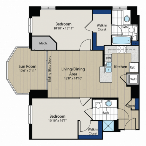 Floor Plan 4 | Meridian at Gallery Place 5