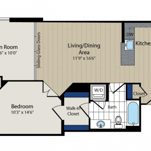 Floor Plan 3 | Meridian at Courthouse Commons