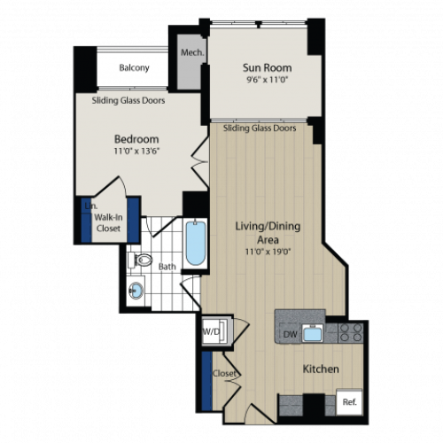 Floor Plan 4 | Meridian at Courthouse Commons 2