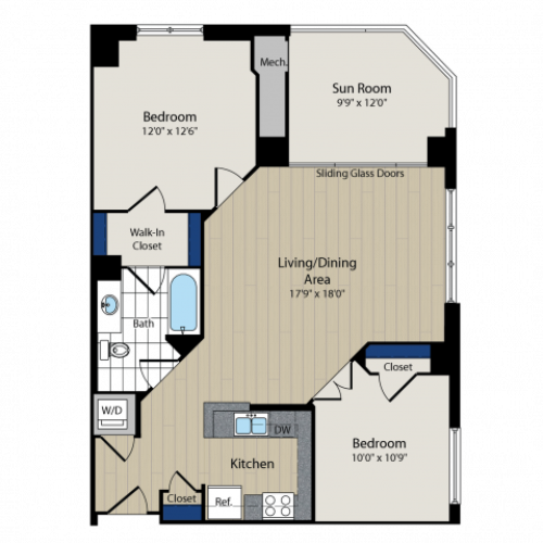 Floor Plan 3 | Meridian at Courthouse Commons 4