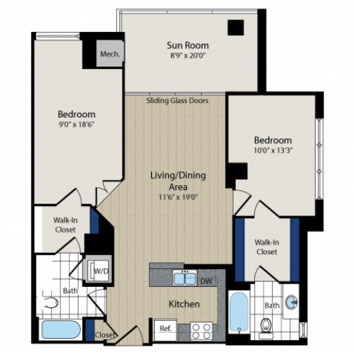 Floor Plan 5 | Meridian at Courthouse Commons