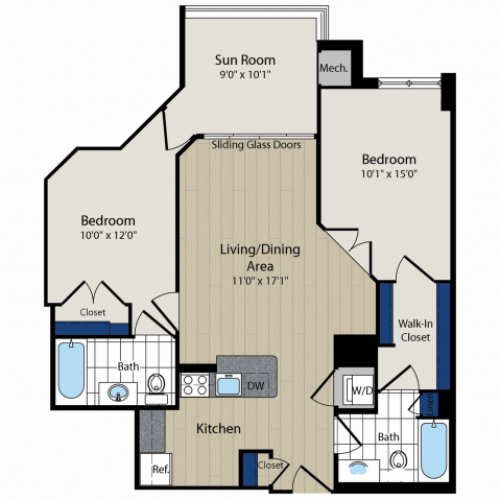 Floor Plan 5 | Meridian at Courthouse Commons 3