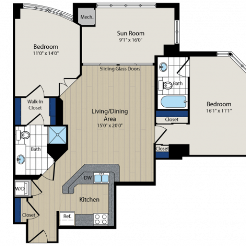 Floor Plan | Meridian at Courthouse Commons 4