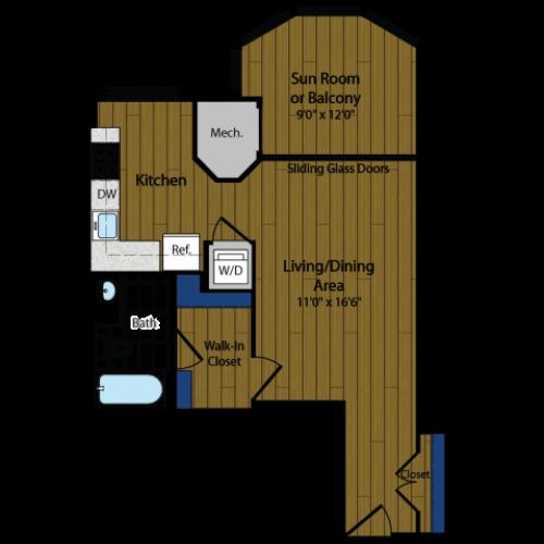 Floor Plan 4 | Luxury Apartments In Arlington VA | Meridian at Ballston Commons