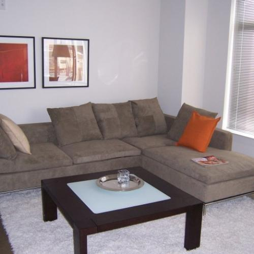 Photo of a sofa in an apartment living room
