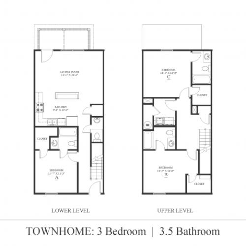 3 bedroom Townhome