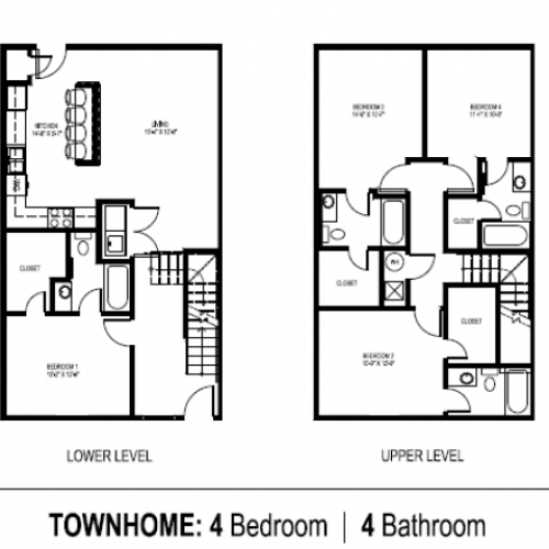 4 bedroom Townhome