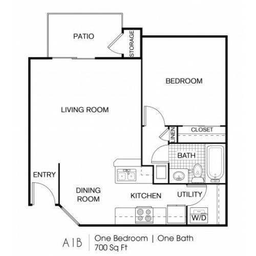 1 Bedroom | 1 Bath 700 Sq Ft