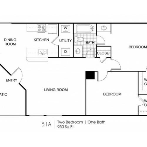 2 Bedroom | 1 Bath 950 Sq Ft
