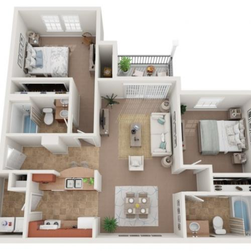 Two Bed Two bath_946 sqft