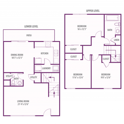 Campus Side 3 bedroom townhome