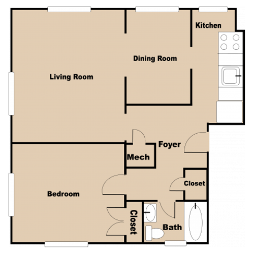 1 Bed Delux