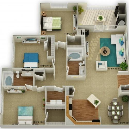 Photo of The Legend Three Bedroom Floor Plan