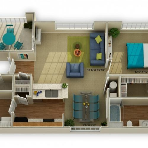 Photo of The Carriage One Bedroom Floor Plan