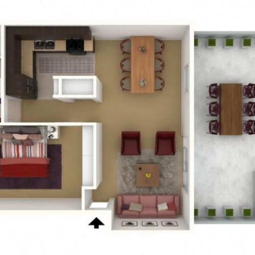 1 Bedroom 1 Bath - 2