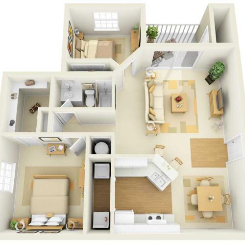 Two Bedroom | One Bathroom | 1114 sqft