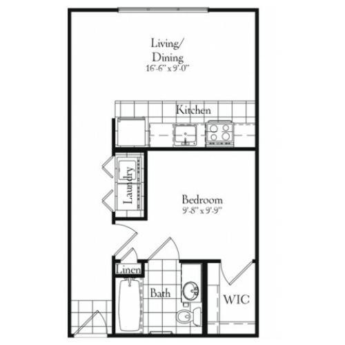 One Bedroom | 503 sqft