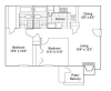 Two Bedroom | Two Bathroom | 960 sqft