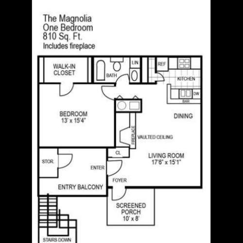 One Bedroom | 810 sqft