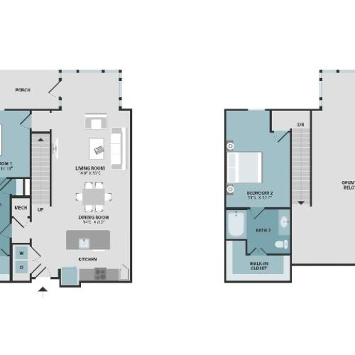 B2-A | Two Bedroom | Two Bathroom