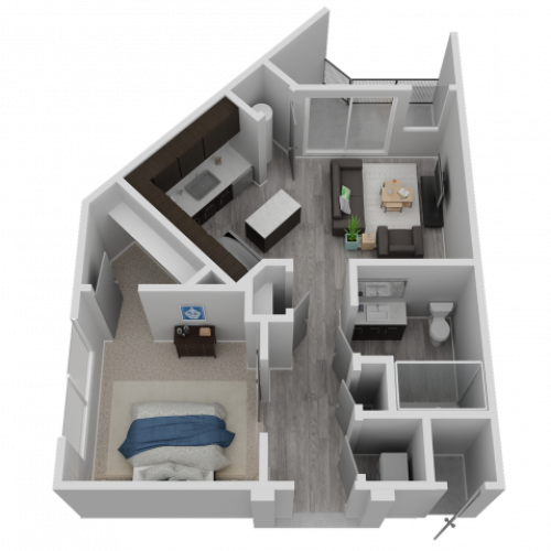 One Bedroom- A2