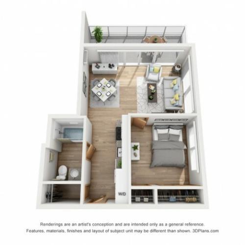 Rhythm Water floor plan | Rhythm | Milwaukee Apartments