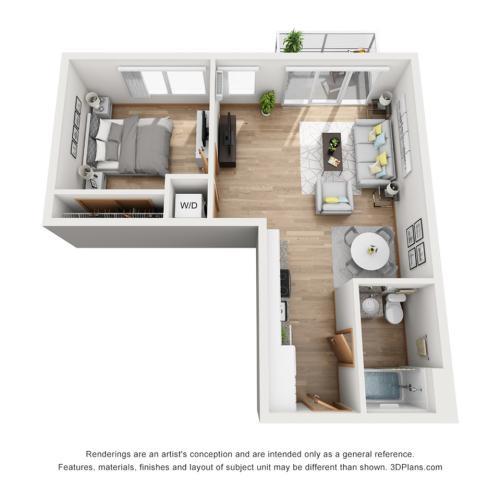 Rhythm Sunrise Floor Plan   Rhythm   Milwaukee Apartments