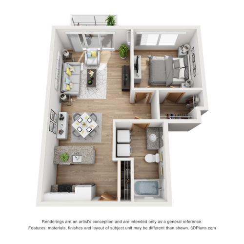 Rhythm Entertainer floor plan | Rhythm | Milwaukee Apartments