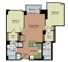 Floor Plan 6   Parc Meridian at Eisenhower Station 4